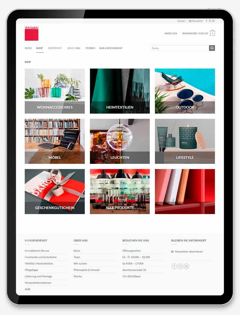 professionellen Onlineshop erstellen lassen Webdesign Web Shop Movie Video SEO Digital Agentur Webagentur Webseite Webdesign Grafik Design Boutique Danoise Basel ShowMyProject 2021