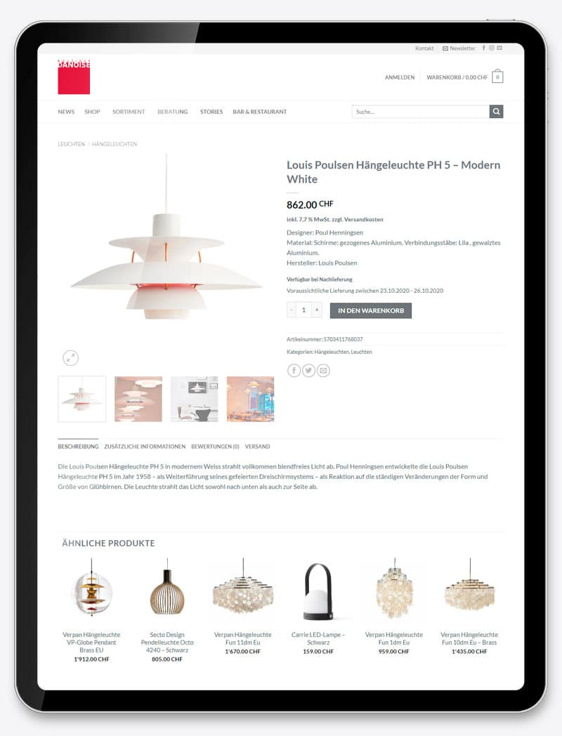professionellen Webshop erstellen lassen Corporate Website Webdesign Web Shop Movie Video SEO Digital Agentur Webagentur Webseite Webdesign Grafik Design Boutique Danoise Basel ShowMyProject 2021