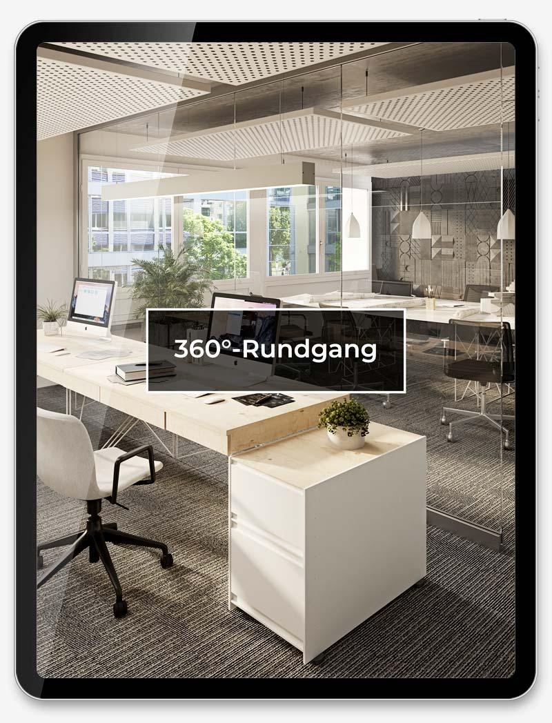 Corporate Website Digital Agentur Webagentur Webseite Website Webdesign Grafik Immobilien Vermietung BlueWhite Business Center Zuerich Basel ShowMyProject 2021 Buero Visualisierung